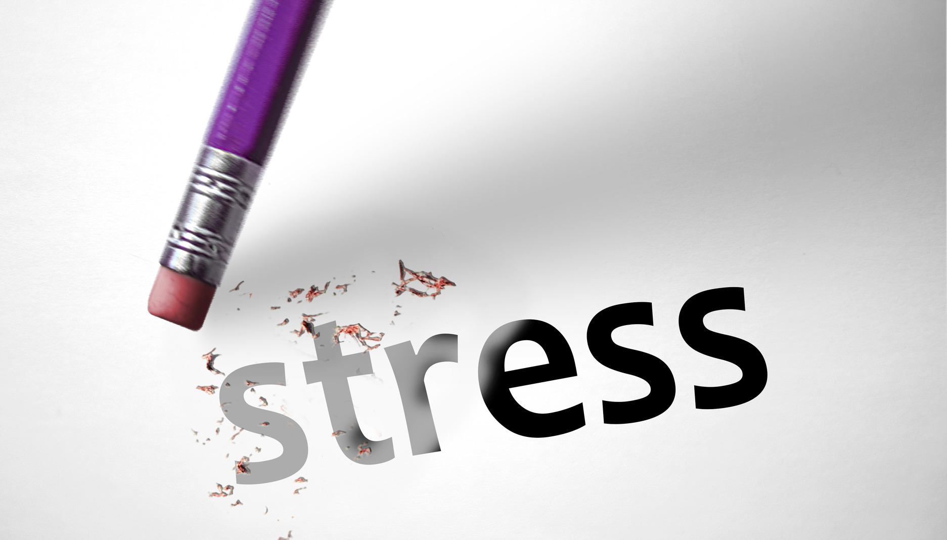 Eraser deleting the word Stress